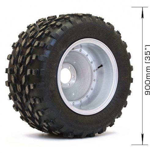 Assembled wheel M-TRIM (2 layers) with 6х139,7, DIA 110 disk